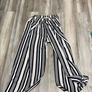 Flowy white and black pants